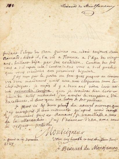 MONTFAUCON, BERNARD DE (1655-1741)
