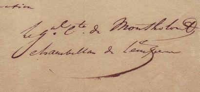 [Veille de WATERLOO] MONTHOLON, CHARLES-TRISTAN DE (1783-1853)