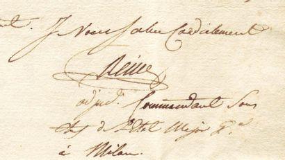REILLE HONORÉ CH. M. JOSEPH (1775-1860) Général orignaire d'Antibes. Servit aux armées...