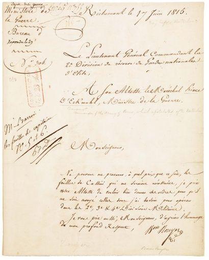 [WATERLOO, Veille de la Bataille de] ROUYER MARIE-FRANÇOIS (1765-1824)