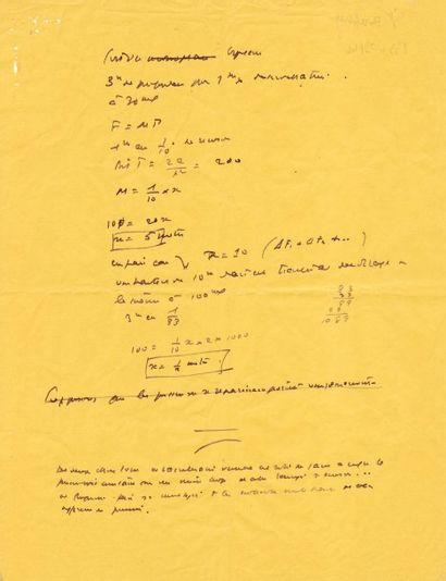 SAINT-EXUPÉRY, ANTOINE DE (1900-1944) Pilote et écrivain. Manuscrit autographe, 1...