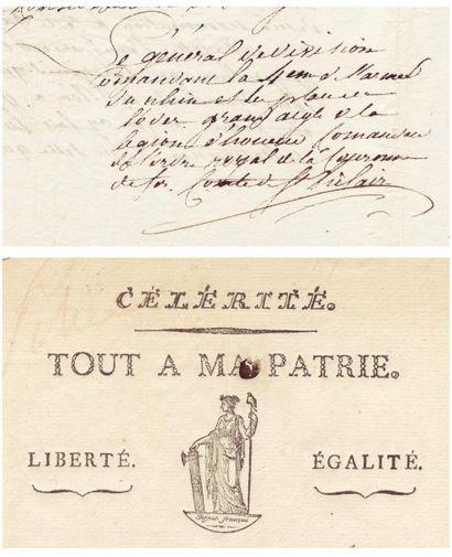 SAINT-HILAIRE, LOUIS VINCENT JOSEPH LE BLOND DE (1766-1809) Général né à Ribemont...