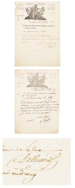 [Expédition d'Egypte] BELLIARD AUGUSTE (1769-1832)