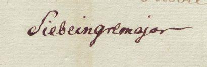 SIEBEIN, JUSTUS VON (1750-1812) Général bavarois né à Iggelheim dans le Palatinat....