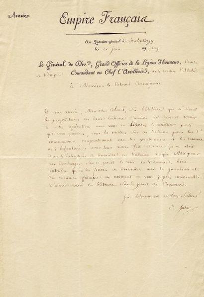 SORBIER, JEAN BARTHÉLEMOT DE (1763-1827) 4 lettres signées, 5 pages in-folio Gonio...