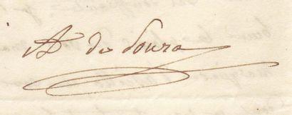 [Talleyrand] SOUZA-BOTELHO, COMTESSE ADÉLAÏDE DE (1761-1836) Femme de lettres, amie...