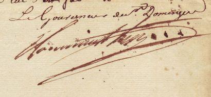 TOUSSAINT-LOUVERTURE, FRANÇOIS DOMINIQUE TOUSSAINT, DIT (1743-1803) Général et gouverneur...