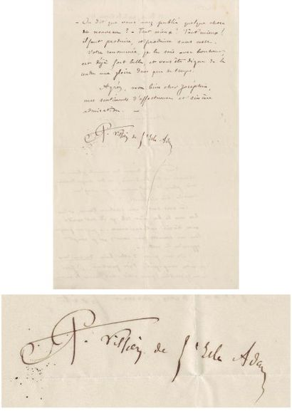 VILLIERS DE L'ISLE-ADAM AUGUSTE (1838-1889)