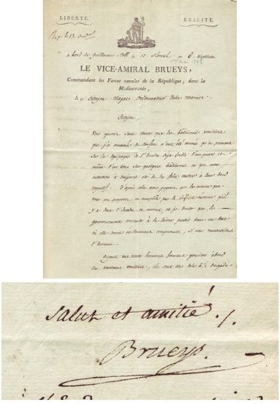 [Campagne d'Egypte] BRUEYS FRANÇOIS PAUL (1753-1798)