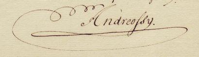 ANDRÉOSSY VICTOR-ANTOINE (1747-1819)
