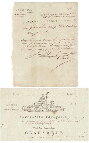 [Saint-Domingue] CLAPARÈDE MICHEL MARIE (1770-1842)