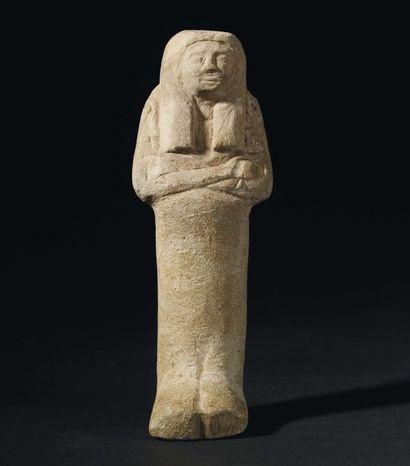 Shaouabti momiforme, coiffé de la perruque...