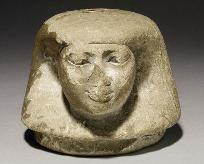 Bouchon de vase canope sculpté du visage...
