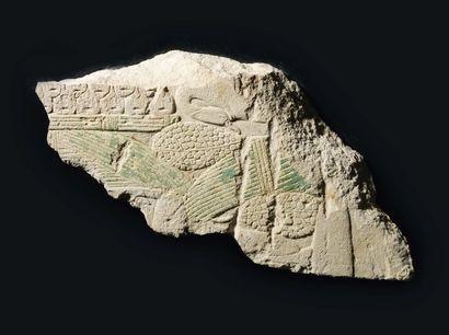 Relief fragmentaire sculpté d'un amoncellement...