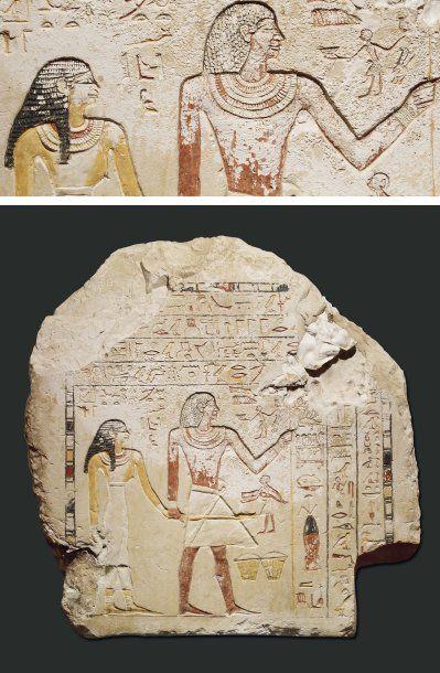Grande stèle au nom de Nefer-Tchebau et de...