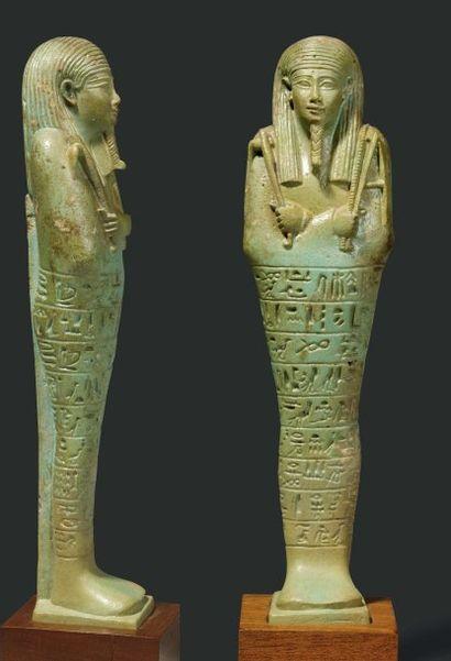 Oushebti au nom de Ankh-Hapy, né de Ta-di-hat-Mehyt....