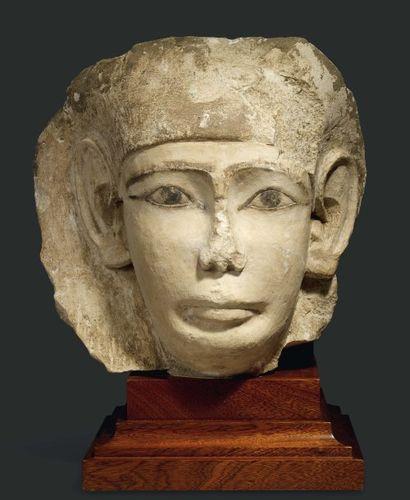 Grand masque de sarcophage représentant le...