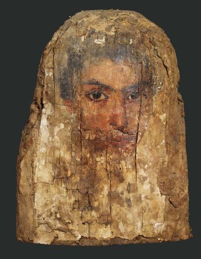 Portrait du Fayoum. Il est peint du visage,...