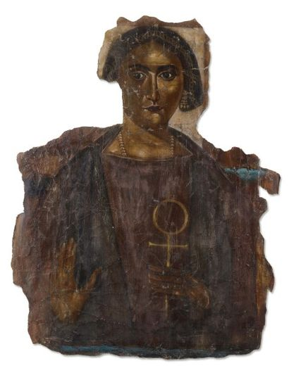 Portrait de femme à la croix Ankh. Grand...