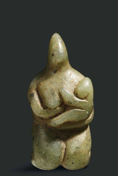 Maternité. Rare figurine représentant une...