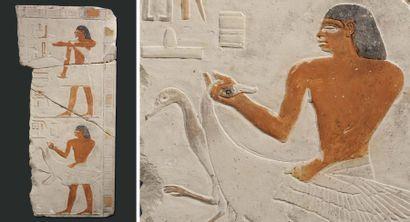 Relief sculpté de deux registres superposés...