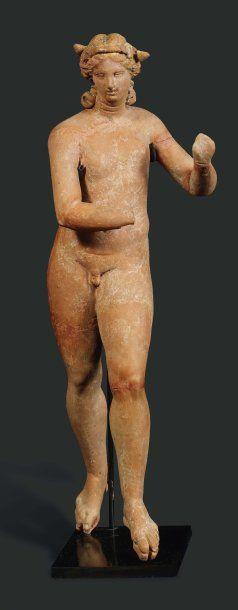 Éros éphèbe. Statuette représentant Éros...