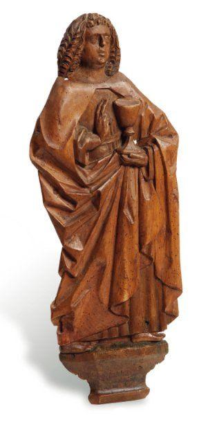 Saint Jean Evangéliste Relief en tilleul...