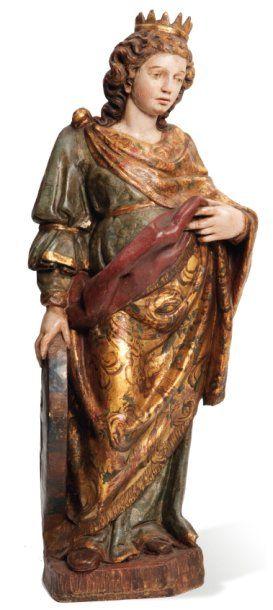 Sainte Catherine avec une roue dans la main...