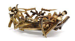 Corbeille en bois de racine, bois de cerfs,...