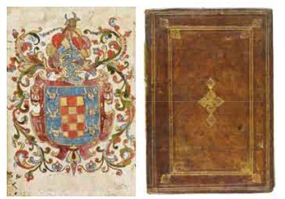 Armes Peintes du Roi d'Espagne Manuscrit,...