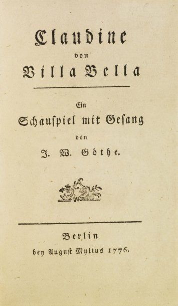 GOETHE (Johann Wolfgang).