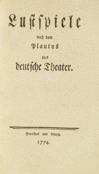 [LENZ (Jacob Michael Reinhold) & GOETHE (Wolfgang Johann von)].