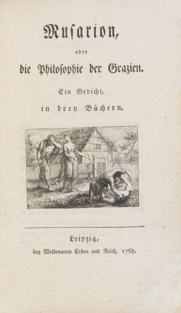 WIELAND (Christoph Martin). Musarion, oder die Philosophie der Grazien. Ein Gedicht...
