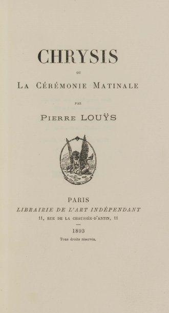 LOUYS (Pierre).