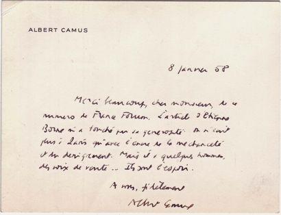 CAMUS Albert.
