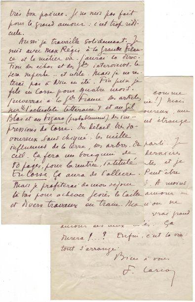 [Corse] CARCO, François Carcopino-Tusoli, dit Francis (1886-1958)