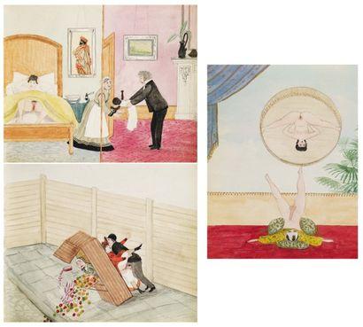 Album de 80 aquarelles originales, 170 x...
