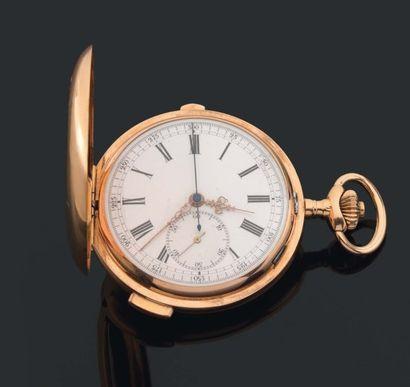Grosse MONTRE de poche savonnette chronographe...