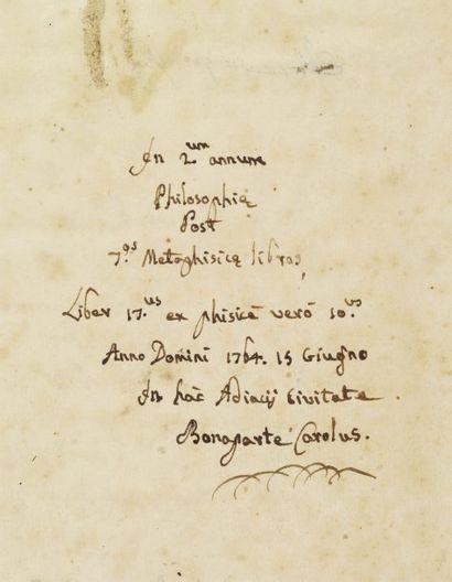 BONAPARTE CHARLES (1746-1785) Avocat au Conseil supérieur de Corse, député de la...