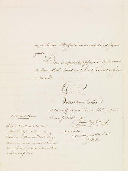 BONAPARTE JÉRÔME (1784-1860) Frère cadet de Napoléon Ier.
