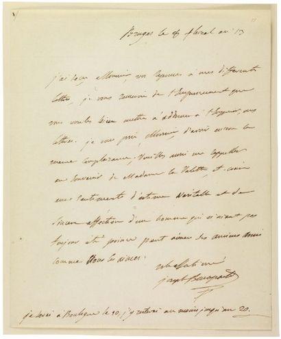 BONAPARTE JOSEPH (1768-1844) Roi de Naples puis d'Espagne, frère aîné de Napoléon...