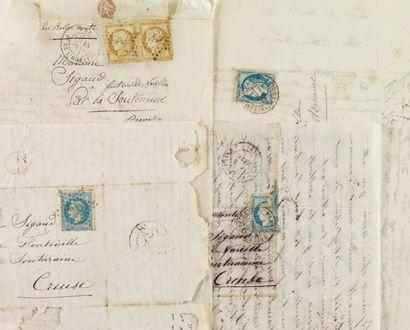 BALLONS MONTÉS 1870-1871. Quatre lettres...