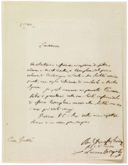 BONAPARTE LUCIEN (1775-1840) Frère de Napoléon Ier, prince de Canino.