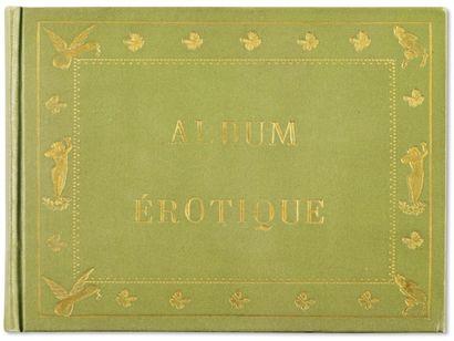 Album Erotique. 12 figures libres en noir,...