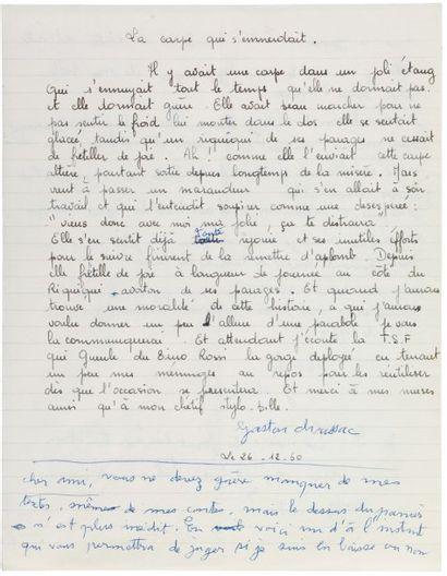 CHAISSAC GASTON (1910-1964) Peintre autodidacte, figure très représentative de l'Art...