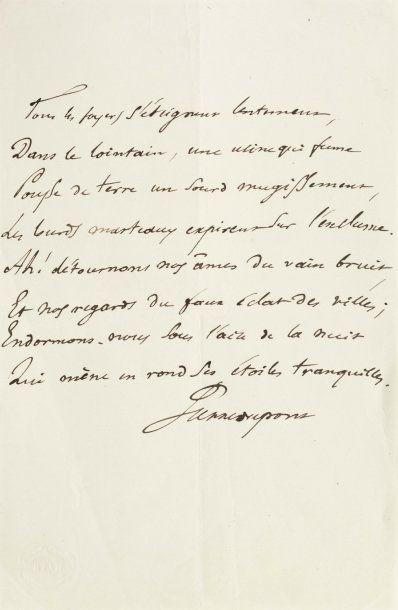 DUPONT PIERRE (1821-1870) Chansonnier et poète lyonnais célébré par Baudelaire.