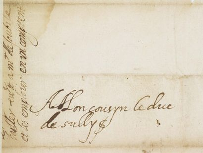 FRANCE, HENRI IV DE (1553-1610) Roi de Navarre puis de France en 1589. Lettre autographe...