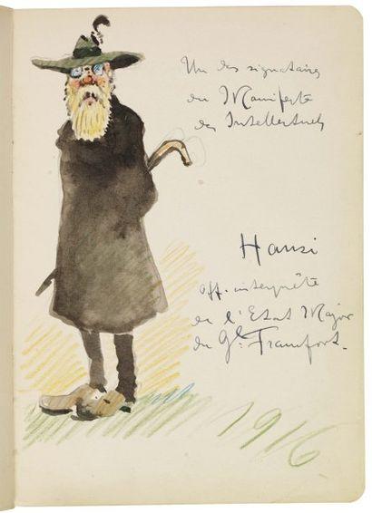 HANSI, JEAN-JACQUES WALTZ, DIT (1873-1951) Célèbre illustrateur alsacien. Jolie aquarelle...