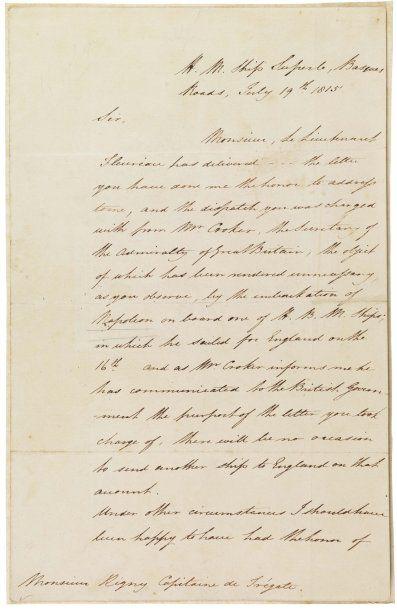 [Napoleonica] HOTHAM HENRY (1777-1833) Amiral...