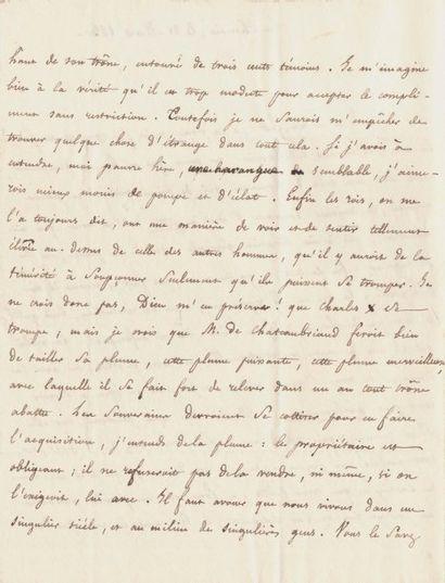 LAMENNAIS, FÉLICITÉ DE (1782-1854) Ecrivain et philosophe.
